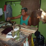 Leather smith work in Granada Nicaragua