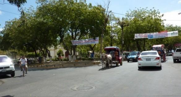 Traffic in Granada, Nicaragua